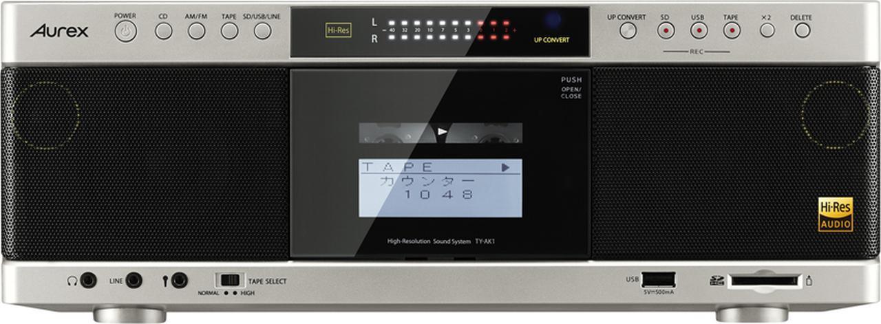 画像: パソコンなどを使うことなく、単体でSDカードとUSBメモリーにCD、ラジオ、カセットなどの音源をデジタル録音できる。ファイル形式はMP3/192Kbps。録音する各メディアごとに、専用の録音ボタンが用意されているのでわかりやすい。