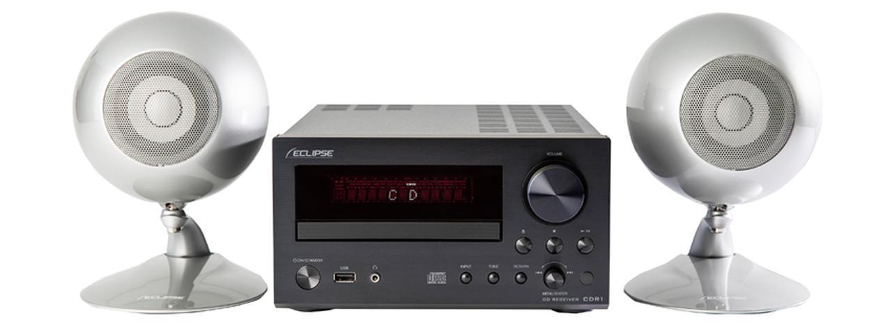 画像: 独自の卵形スピーカーTD307MK2Aを使ったミニコンポ。音場感に優れた再生を手軽に楽しめる。ネットワーク機能やUSB DAC機能には対応していない。 サイズ CDレシーバー:幅21.5㎝×高さ11.9㎝×奥行き33.1㎝ スピーカー 幅13㎝×高さ19.5㎝×奥行き17.6㎝、重量 CDレシーバー:4.8kg スピーカー:1.5㎏(1台)、実用最大出力 30W+30W(4Ω) ドライブ:CD CD-R/RW、ラジオ:AM/FM