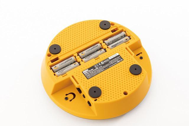 画像: 電源はACのほかにニッケル水素充電池(単3形×6)にも対応、満充電で約4時間の連続使用ができる。電池は別売。