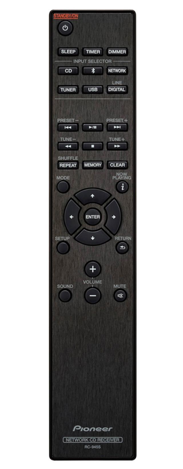 画像: すっきりとしたデザインのリモコン。シンプルで明快なボタン配置で、快適に操作できた。