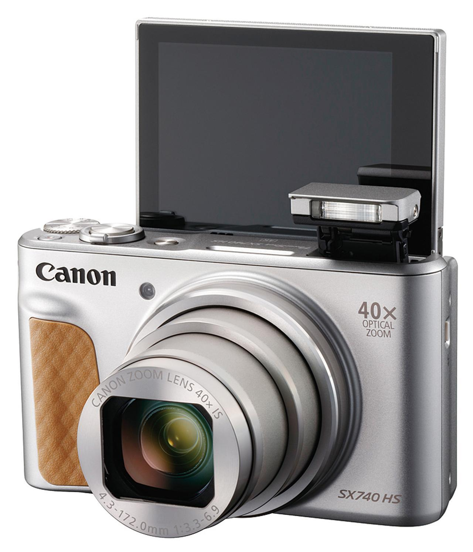 画像: 液晶モニターは、上方向に約180度回転する仕様なので、自分撮りにも対応できる。