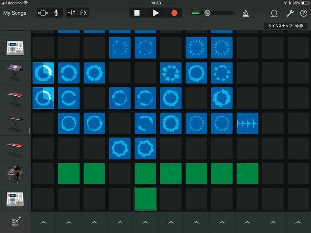画像: さまざまな楽器パートを組み合わせて半自動演奏的に曲を仕上げることもできる。ちょっといじっただけで、それっぽいエレクトロサウンドが出来上がるのが楽しい。