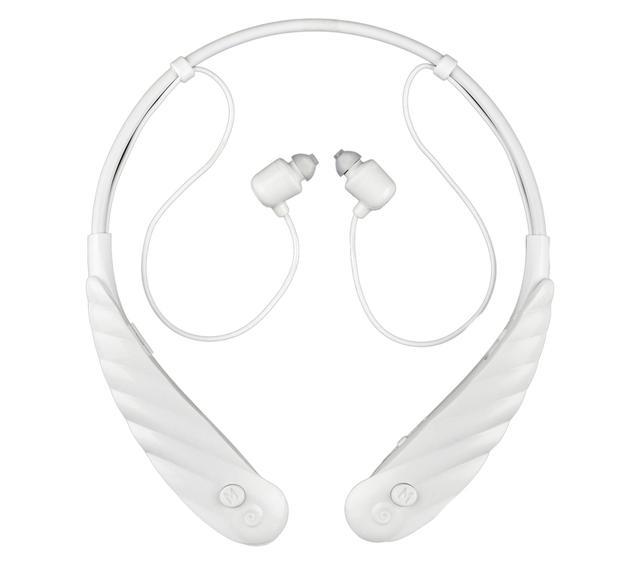 画像: ワイヤレス型のイヤホンに多いネックバンド型を採用しており、見た目もスタイリッシュ。イヤホン部も軽量で使いやすい。