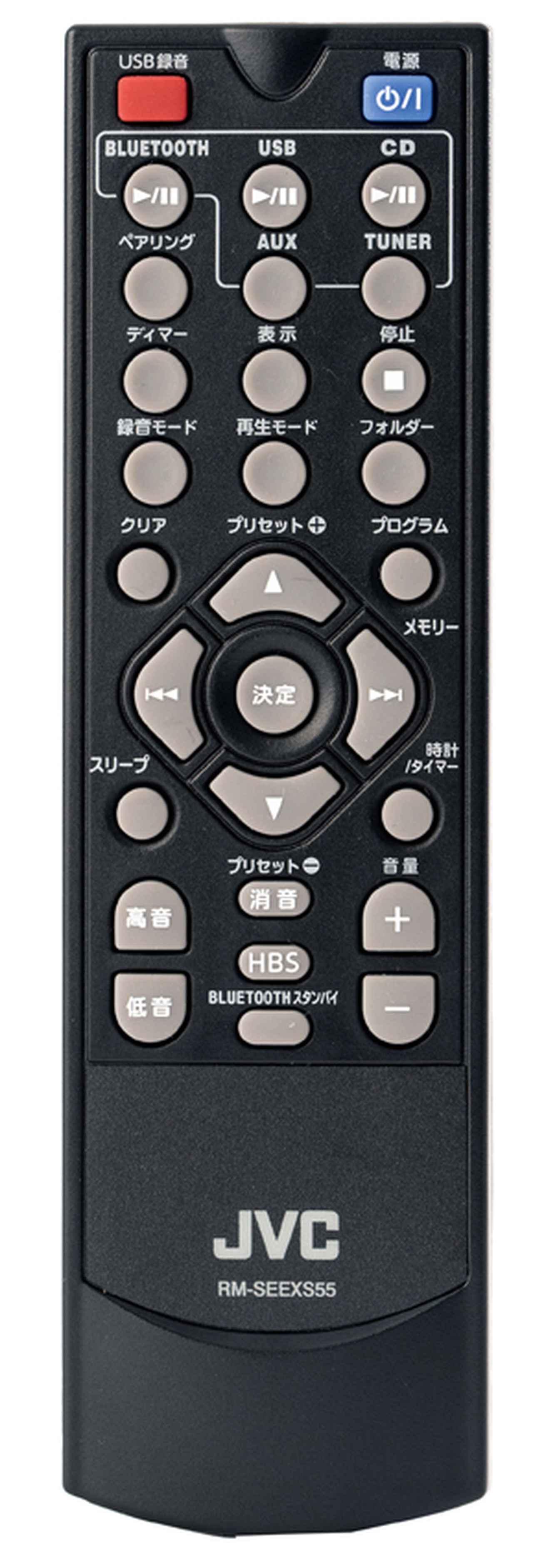画像: さまざまな機能をダイレクトに呼び出せるボタンを装備し、快適に使えるリモコン。