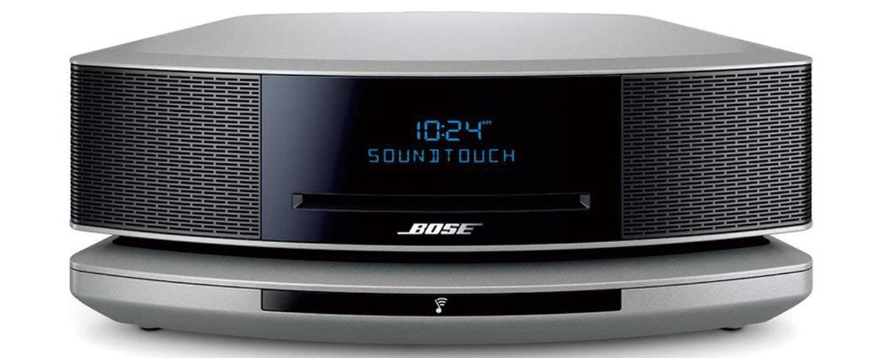 画像: 一体型システムの最新モデルで、ネットワーク機能などを追加するドックとのセットとなる。独自のウェーブガイド技術で、一体型ながら豊かな低音再生を実現した。 サイズ 幅36.8㎝×高さ14.2㎝×奥行き22.1㎝、重量 4.5kg、実用最大出力 非公表 ドライブ:CD CD-R/RW、ラジオ:AM/FM ワイドFM、ブルートゥース:対応(対応規格は非公表)