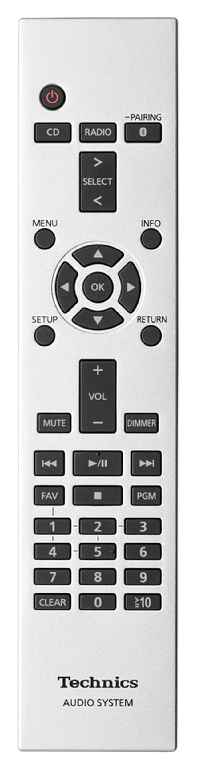 画像: ボタン配置を工夫し、基本操作が手軽に行える付属のリモコン。設定もしやすい。