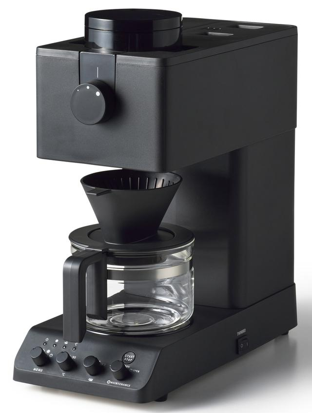 """画像: 世界一おいしい""""自分だけの究極の一杯""""に出会える全自動コーヒーメーカー。低速臼式フラットミルを採用し、独自設計のステンレス製・燕三条製の刃を開発し、着脱式で手入れもしやすい。抽出で重要な要素となる湯温は83℃/90℃を設定可能。実売価格は4万円前後。"""