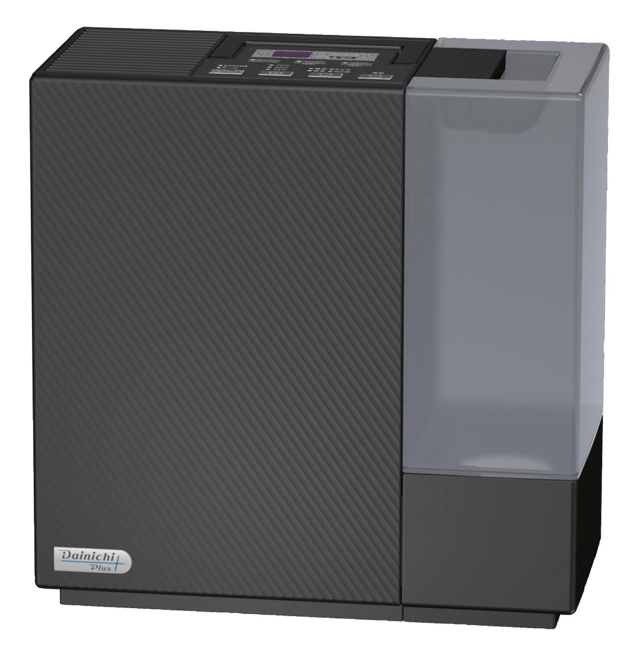 画像: シックでモダンなデザイン性と、業界トップの静音性で、高い支持を誇るモデル。1%刻みの加湿表示や持ち運びに便利な取っ手など、親切設計も満載。保証期間が3年と長いのも特徴。●タンク容量/5.0L●消費電力(最大~最小、50/60Hz)/170W(ターボ)~11W/12W(eco)●サイズ/幅375㎜×高さ375㎜×奥行き175㎜●重量/4.6kg