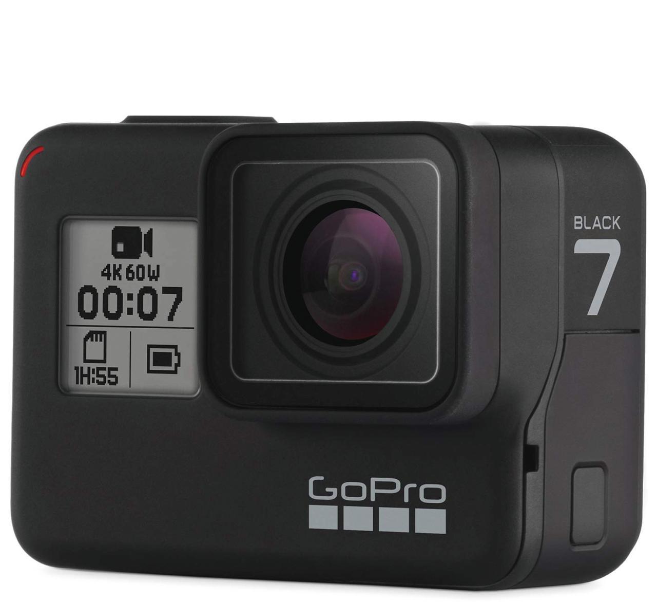 画像: 最新製品でフラッグシップ機のHERO7 Blackは、4K/60pの動画撮影とスムーズな手ブレ補正が特徴。