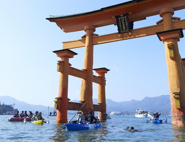 画像: 場所は広島県廿日市市宮島。