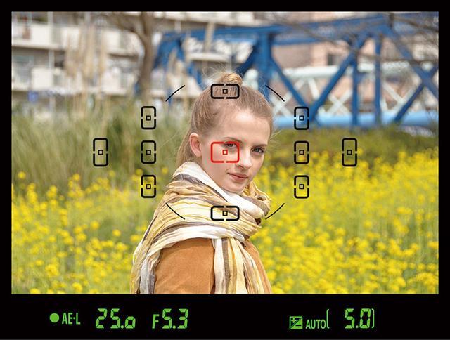 画像: カメラは通常、レンズからの像を、画面を細かく分割してとらえており、どのゾーンに主要被写体があるかを判断。そこにピントを合わせるようになっている。「1点AF」を選択し、画面内の赤い四角を、ピントを合わせたい部分に動かせばOK。
