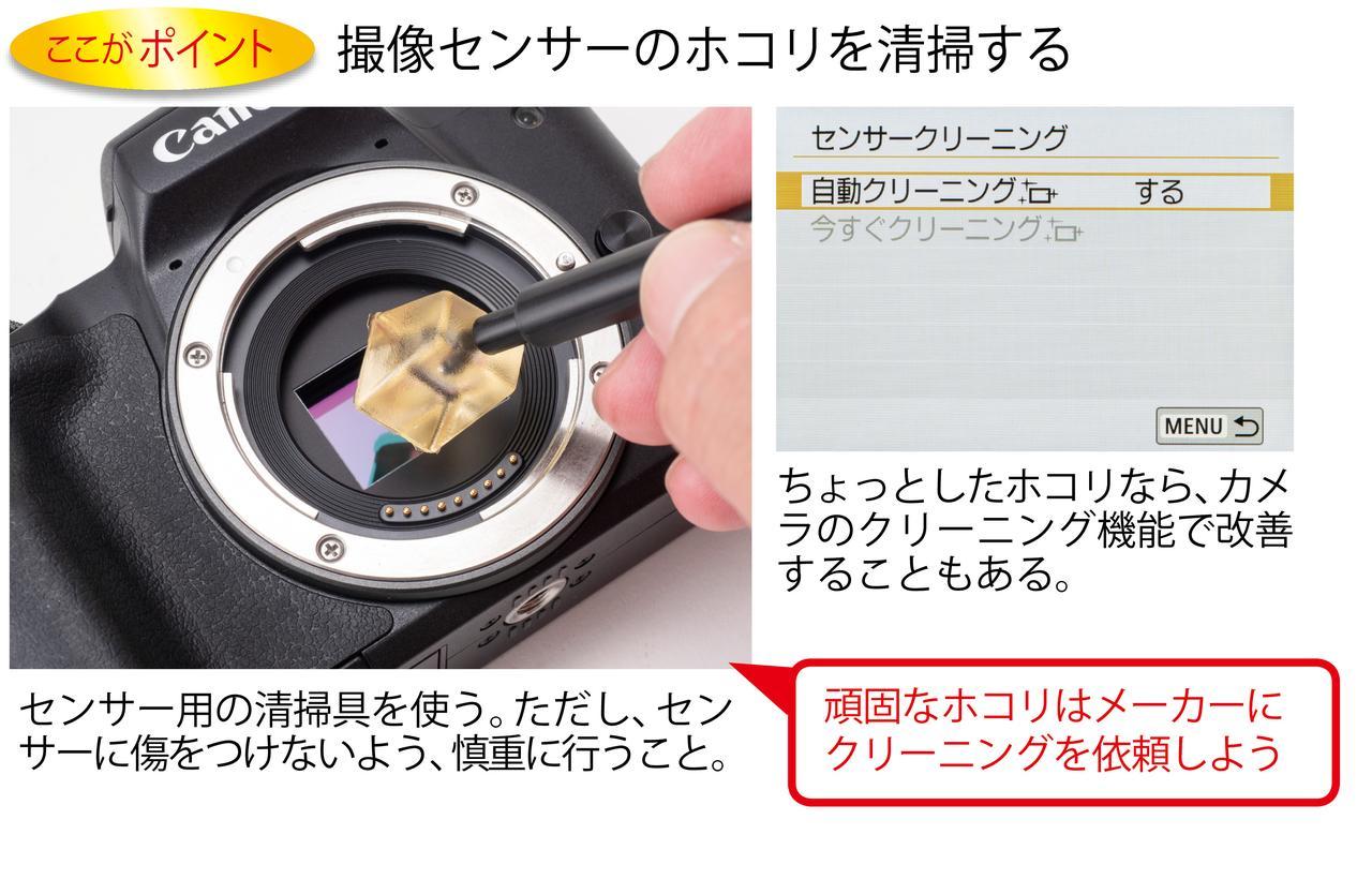 画像: ホコリはセンサーの大敵!保管時は湿気に注意