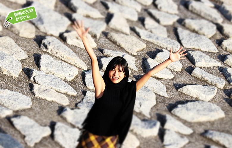 画像: 「ジオラマ」で撮影。画面の天地は大きくボケ、ややコントラストの高い仕上がり。