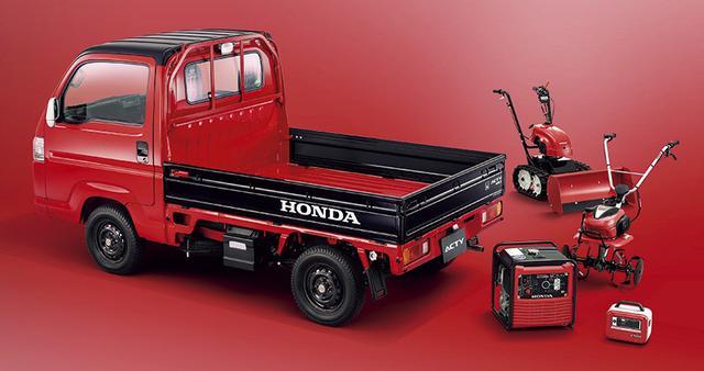 画像: 「フレームレッド×ブラック」はホンダの農機具パワープロダクツとのカラーリングを合わせた。