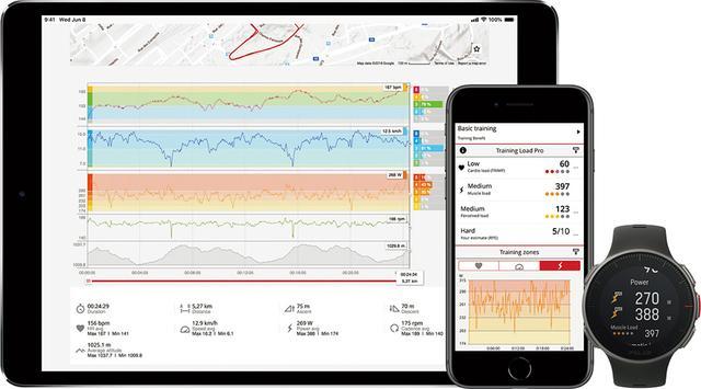 画像: トレーニングデータはスマホなどで確認できる。