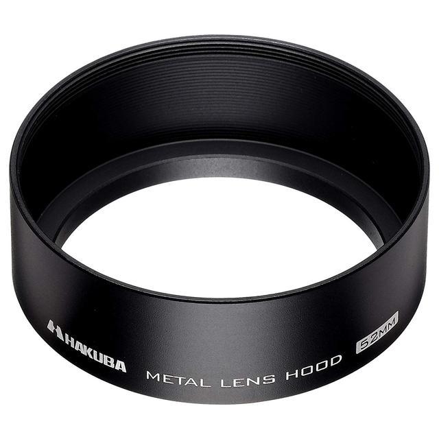 画像: HAKUBA レンズフード メタルレンズフード 高強度6000系アルミニウム合金製 52mmフィルター径装着用 ブラック KMH-52