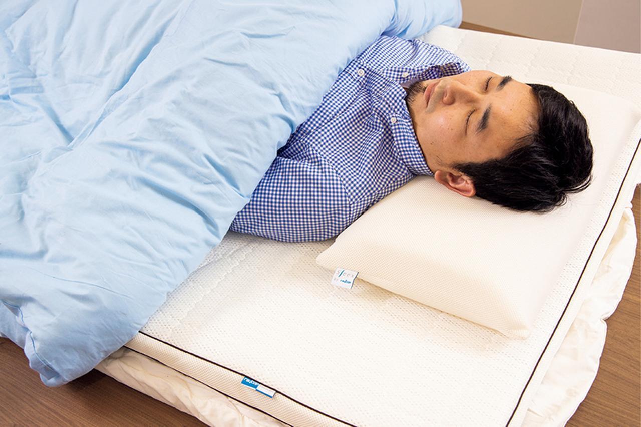 画像: 33℃に設定されたFUTOCONで就寝。実に快適な寝心地。作動音も気にならない。