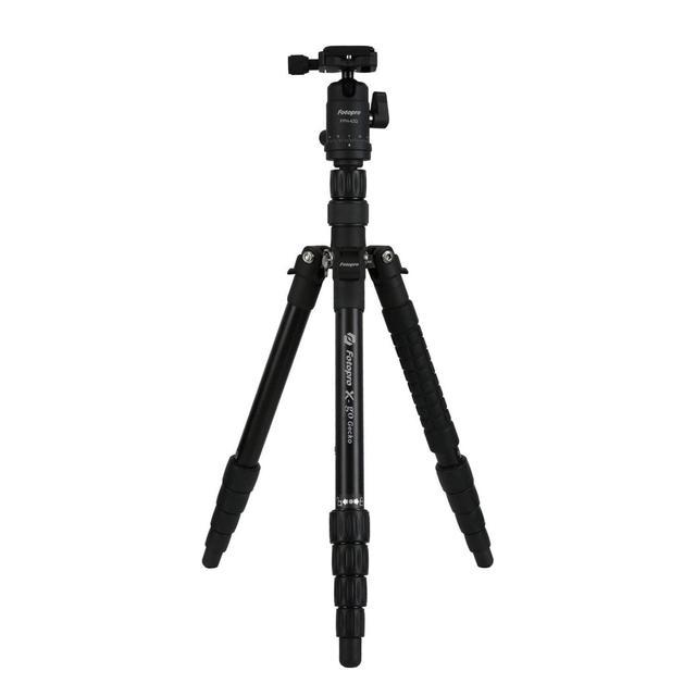 画像: Fotopro 三脚 / 一脚 X-go Gecko MATT BK 5段 22mm 小型 トラベル アルミ 自由雲台 マットブラック 816740