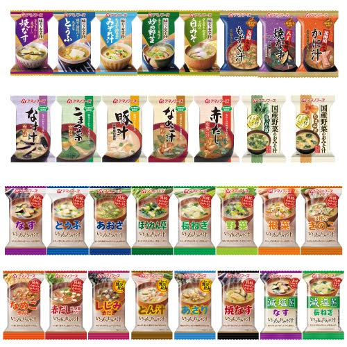 画像: アマノフーズ フリーズドライみそ汁 31種類 1ヶ月 お楽しみ セット [フリーズドライ ねぎ 5g付]