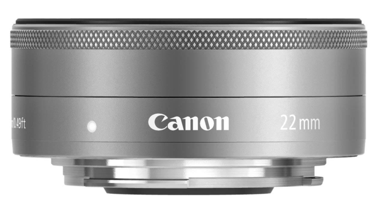 画像: Canon 単焦点広角レンズ EF-M22mm F2 STM シルバー ミラーレス一眼対応 EF-M222STMSL