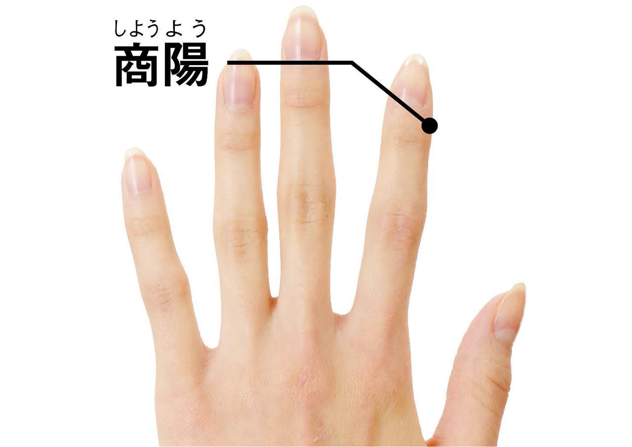 画像: <場所>手の人差し指の、爪のつけ根の親指側