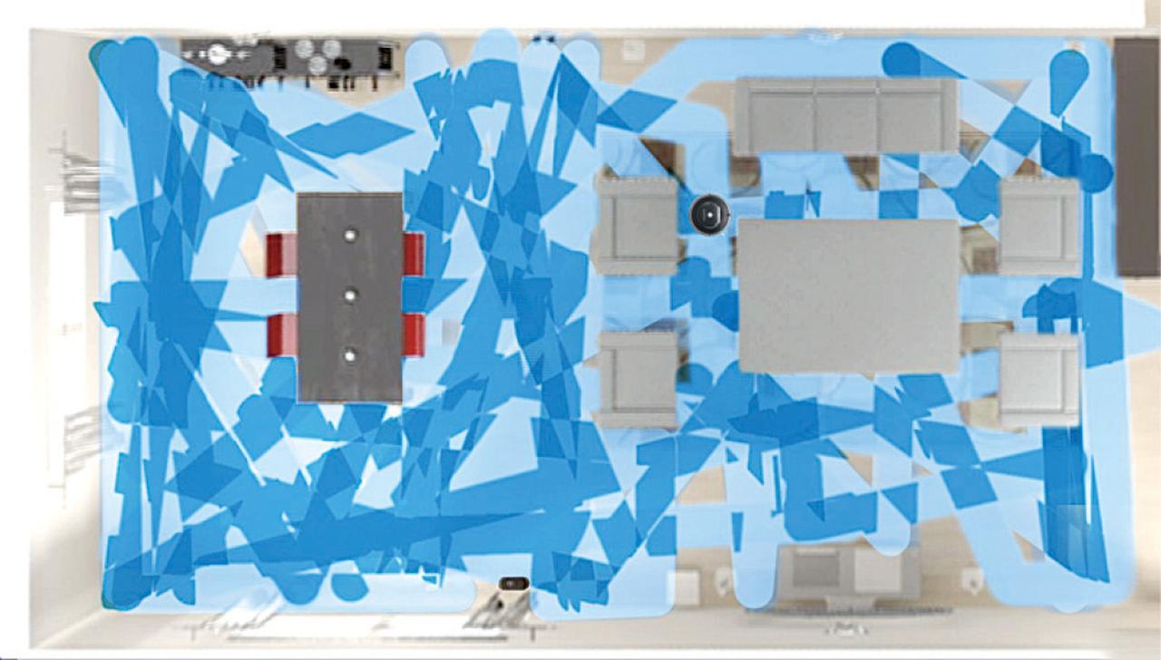 画像: 部屋をマッピングして掃除するルンバ。