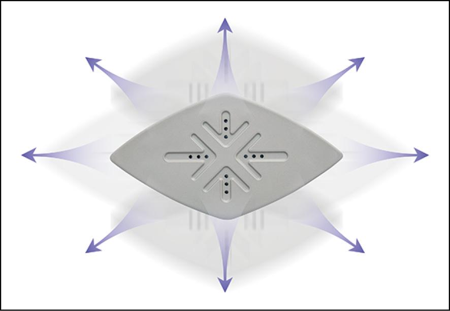 画像: スチーム穴は業界最多の12個。十文字に設置された穴から、上下左右に効率よく噴射する。