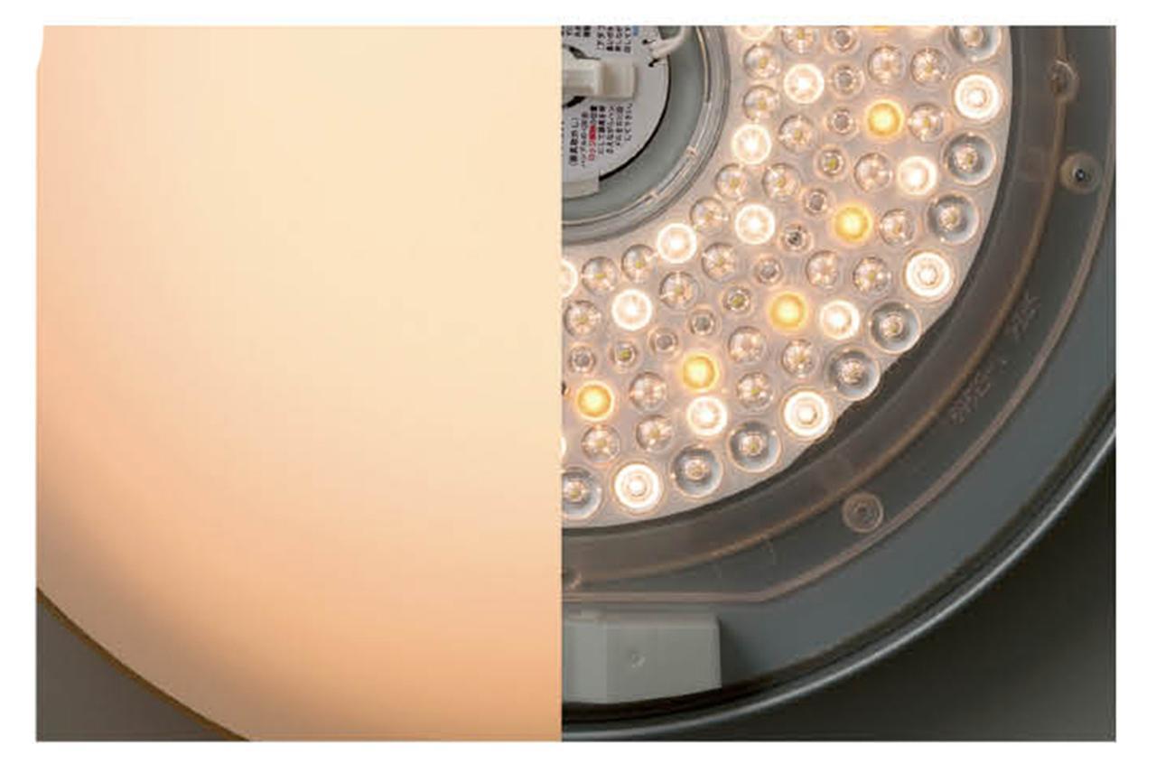 画像: 深みのあるオレンジの光をプラス。暗くしても電球色が白っぽくならず、夕暮れムードを再現。