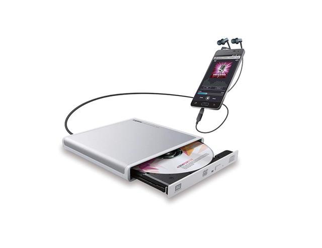 画像: ロジテックの「LDR-PMJ8U2RWH」はAndroid対応のCDドライブ。USBType-C変換アダプタが付属し、USB-C端子のスマホでも大丈夫だ。パソコンとUSB接続することもできる。