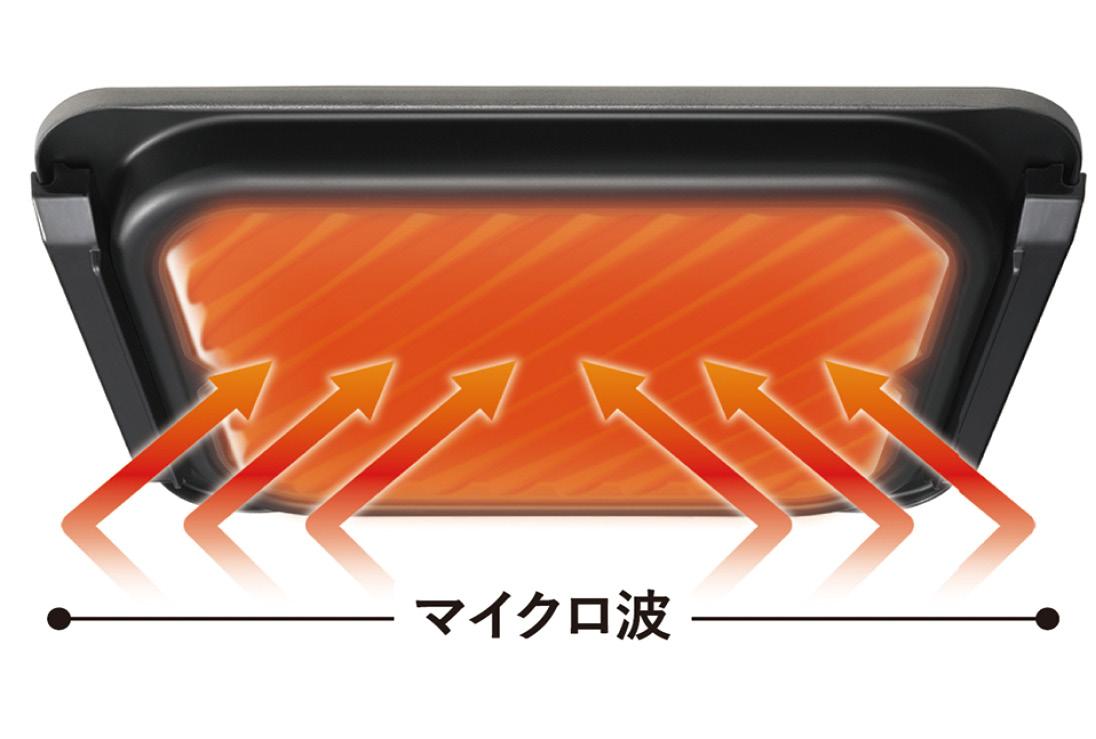 画像: グリル皿の温度アップで時短を図るパナソニック。