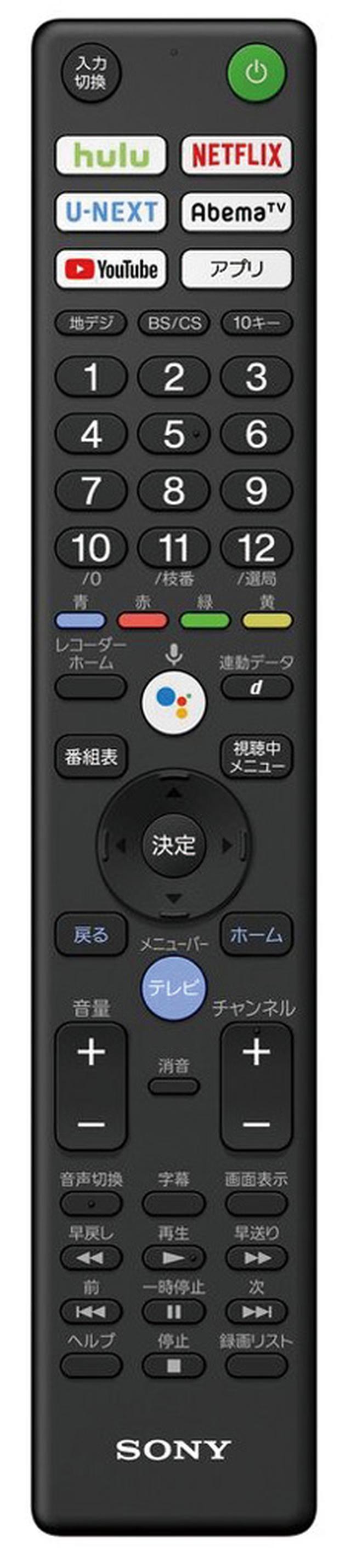 画像: 見たいチャンネルの数字を押すと、電源が入り、番組視聴が可能。独立したネット動画ボタンもわかりやすい。