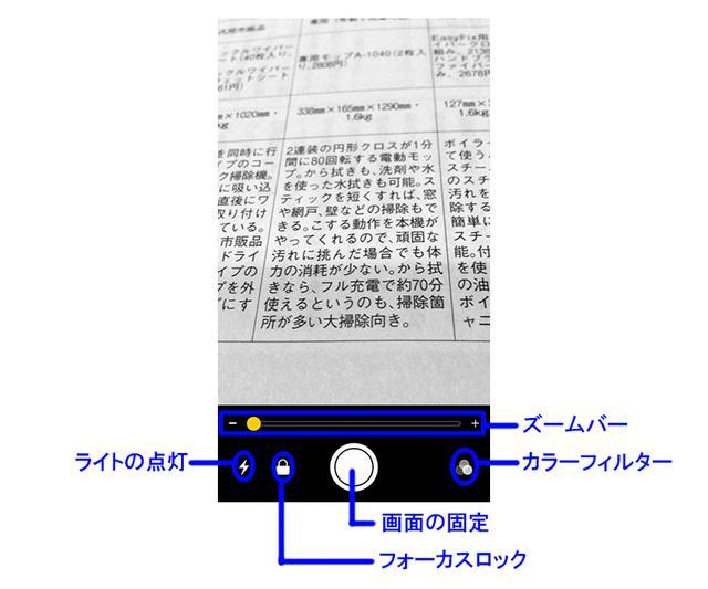 画像: ズームバーで拡大率を変更可能。iPhoneと対象物の距離を変えなくても、見える大きさを変えられる。次回起動時にもズームバーの位置は再現されるので、自分の使いやすい拡大率を見つけておくといいだろう。