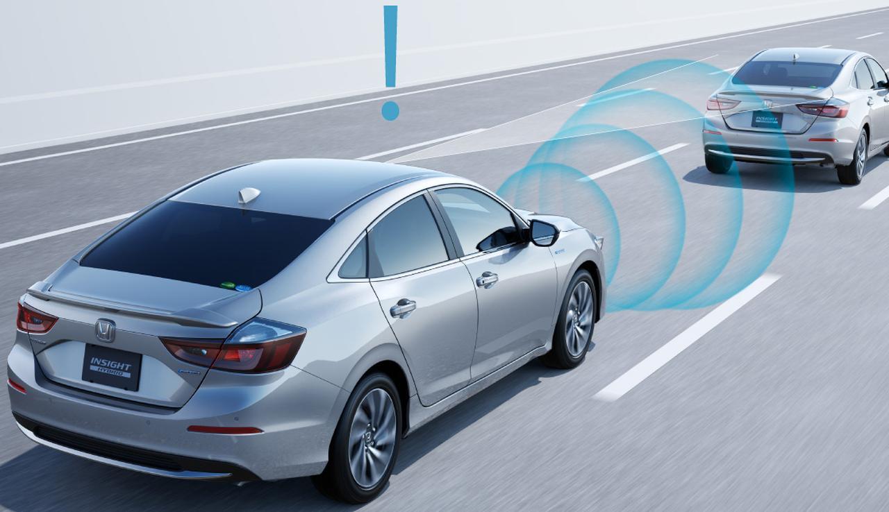 画像: 「Honda SENSING」はレーダーとカメラで危険を察知するシステム。