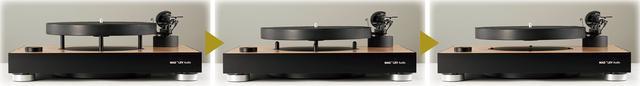画像: 回転軸に接点がなく、モーターも使用しないため、摩擦や振動を排除した正確な回転を行える