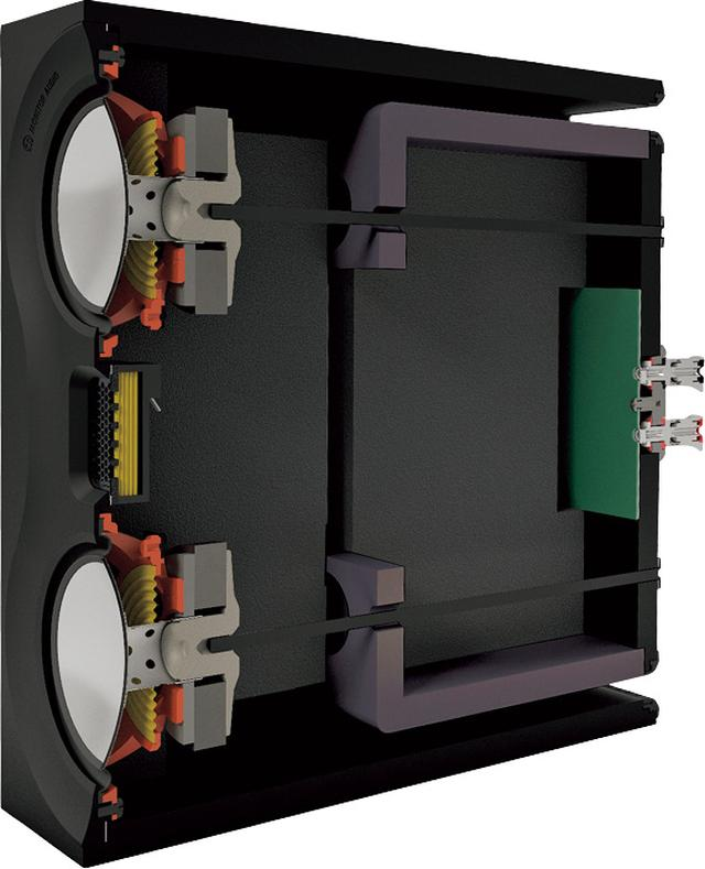 画像: キャビネットの上下に設置された二つのバスレフポートにより、低域再生の質感向上も実現している。