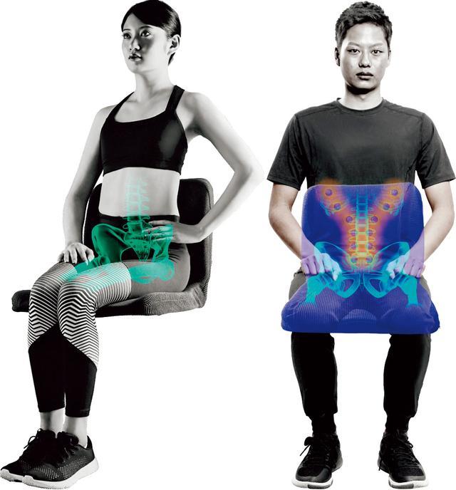 画像: 座るだけで無理なく自然に正しい姿勢を保てるのが特徴。