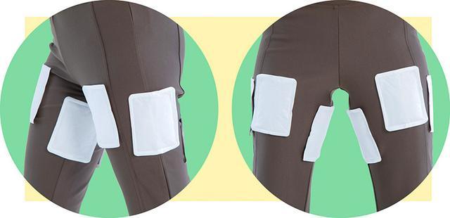 画像: 太ももの前側や後ろ側のほか、外側、内側にはってもよい。