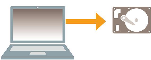 画像: パソコンを分解してHDDを取り出す。分解の方法についてはパソコンの型番でネット検索すると、ほとんどの機種で見つかる。