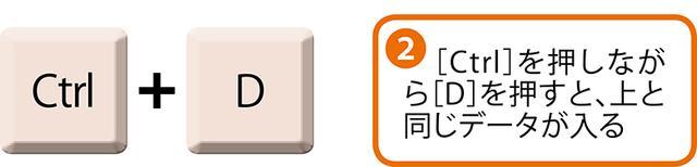 画像2: エクセルですぐ上や左隣と同じ文字を入力する