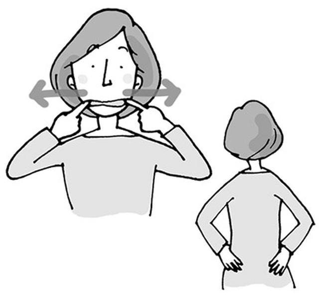 画像1: 口周りと子宮の血行をよくする体操