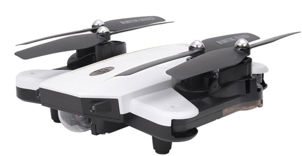画像: デュアルカメラ搭載の小型ドローンと送信機のセットモデル。送信機にセットしたスマホで空撮映像をリアルタイムで再生できる。