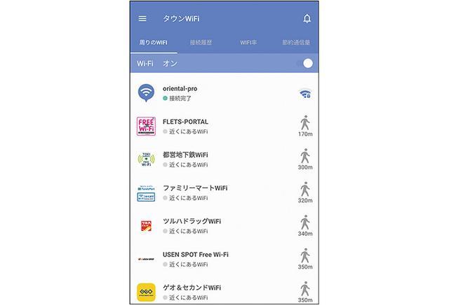 画像: フリーWi-Fiに自動的に接続するためのアプリだが、不要なWi-Fiに接続しない機能、遅いWi-Fiを切断する機能なども搭載されている。公衆無線LANユーザーなら必携だ。
