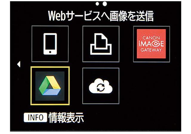 画像: Wi-Fi対応のキヤノン製デジカメは「CANON iMAGE GATEWAY」を通じて直接、Googleドライブに写真を保存できる。