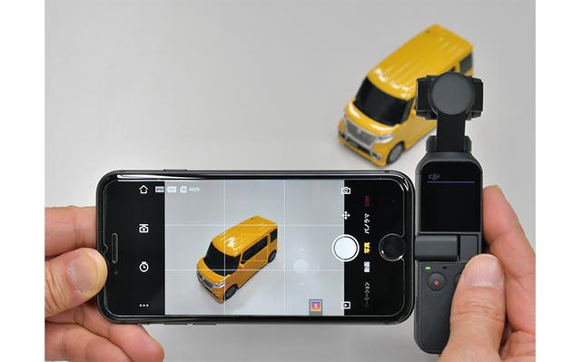 画像: 専用アプリの「DJI Mimo」をインストールしたスマホを本機につなぐと、アプリが自動的に起動。設定や撮影は、単体よりも格段にやりやすくなる。