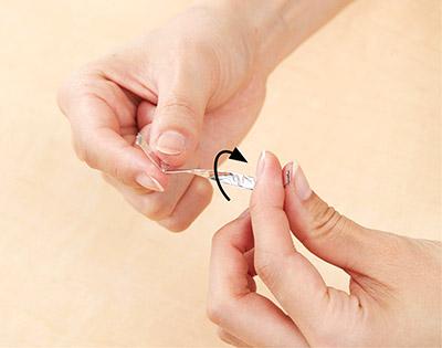 画像3: 【頻尿・尿もれ対策に】鍼がいらない鍼治療「アルミホイルリング」の作り方