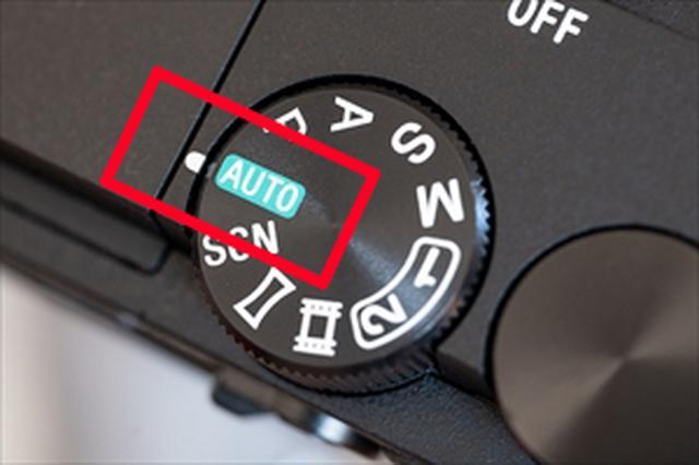 画像: モードダイヤルのAUTOポジション。カメラはソニーα6300。