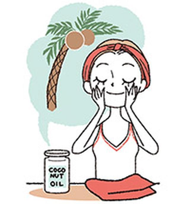 画像: シャワーや洗顔の後にココナッツオイルを塗るだけ!保湿以外にもいろいろな用途に使用できる