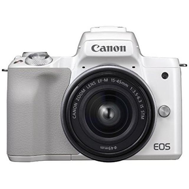 画像: キヤノン EOS Kiss M 【EF-M15-45 IS STM レンズキット】 (ホワイト/ミラーレス一眼カメラ) EOSKISSMWH1545ISLK