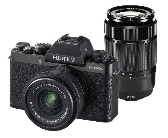 画像: FUJIFILM ミラーレス一眼 X-T100ダブルズームレンズキット ブラック X-T100WZLK-B