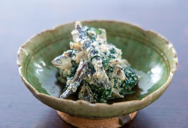 画像: 上品な味わい!「煮干し酢と春菊の白和え」